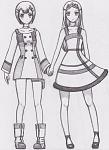 Gundam 00 and Eureka 7 Otome combo.    Louise and Soma in Eureka and Anemone's costume.