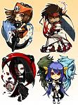 Guilty Gear Chibis  May,Sol,Testament and Dizzy!