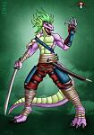 Spike the Dragon in Samurai Form (yeah, the one from MLP)